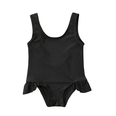 Cute infant girls solid color Tankinis - Labellabambino