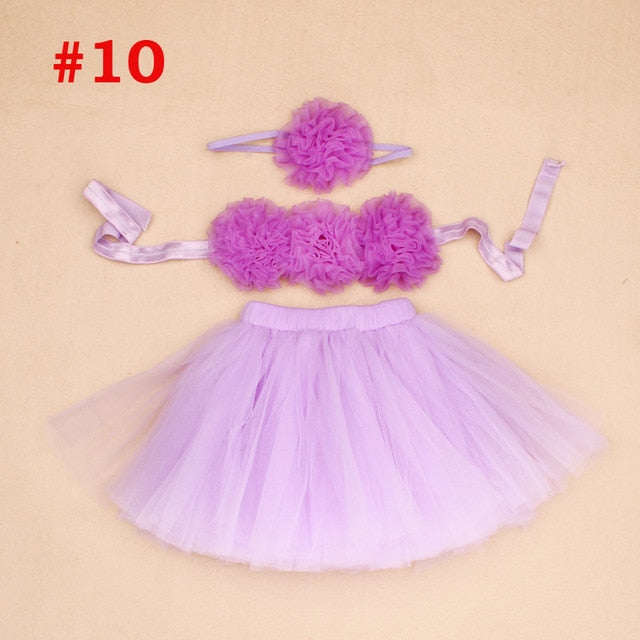 Baby Tutus Set Fancy Frills 3 Piece - Labellabambino