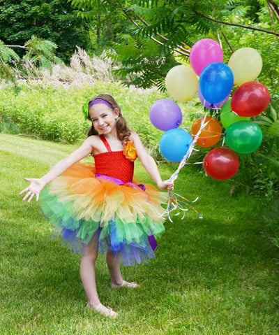 Rainbow Color 3Layers Cake Tutu Dresses - Labellabambino