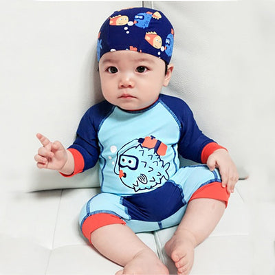 Blue boys infant swimwear - Labellabambino