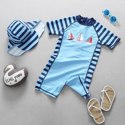 Sailboat Swimsuit For Baby boys - Labellabambino