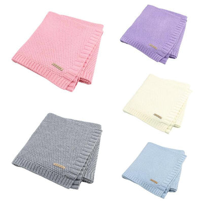 Knitted Baby Blanket Newborn Swaddle Wraps - Labellabambino