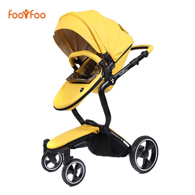 High landscape baby trolley leather - Labellabambino