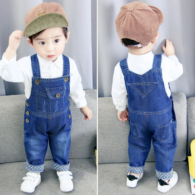Kids Baby Boy Jeans Jumpsuit - Labellabambino