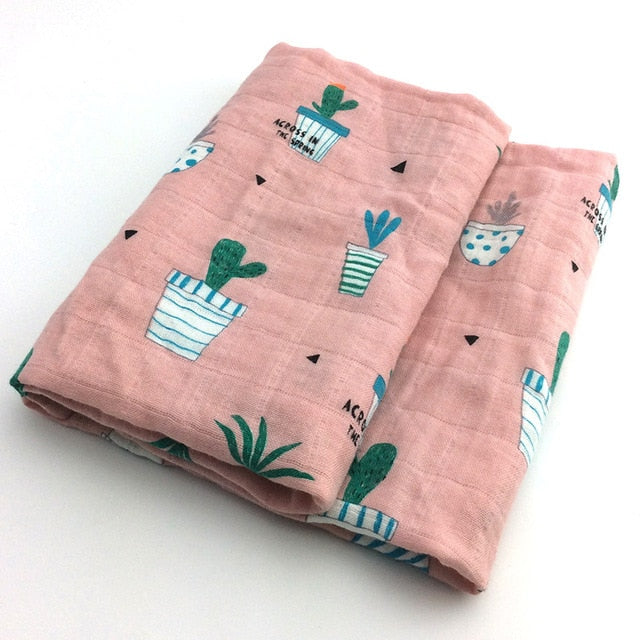 Baby Blankets Soft Organic Cotton Wrap Feeding Burp Towel - Labellabambino