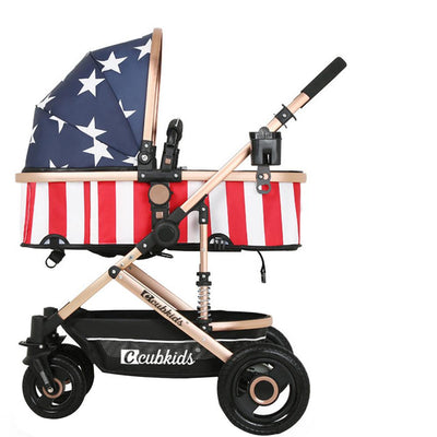 Portable Lying Sitting Baby Stroller - Labellabambino