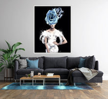 Load image into Gallery viewer, Blue Rose Print