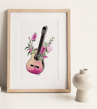 Load image into Gallery viewer, Guitar Pink  Print