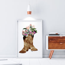 Load image into Gallery viewer, Cowboy Boots Flower Print