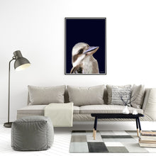 Load image into Gallery viewer, kookaburra Navy Print