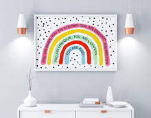 Load image into Gallery viewer, Affirmation rainbow 3 Art  Print