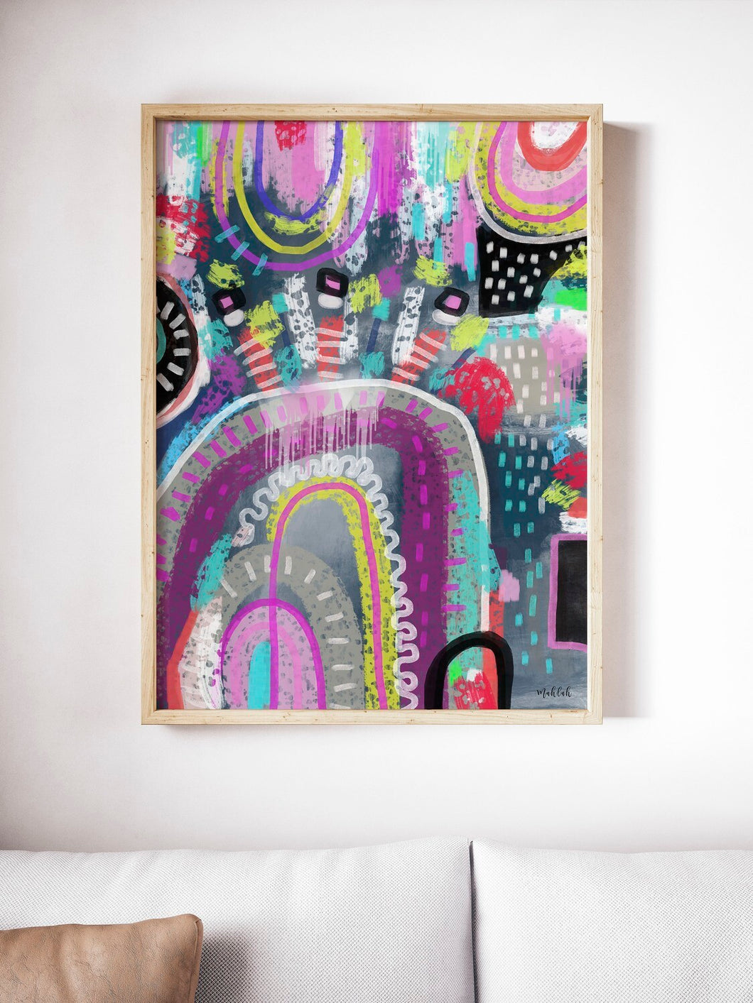 Fleck abstract Canvas Print