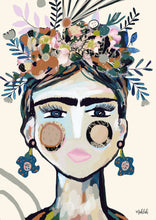 Load image into Gallery viewer, Frida La frida  (cream) Canvas Print