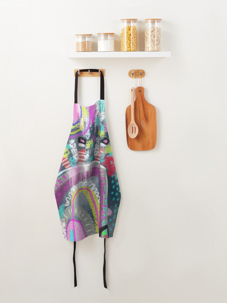 100%  Cotton  Abstarct Apron