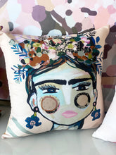 Load image into Gallery viewer, Double sided Cushion Cover 40cmx40cm (Cover Only) Cream Frida & Lovely Day