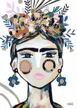 Load image into Gallery viewer, Frida La frida  ( White) Canvas Print