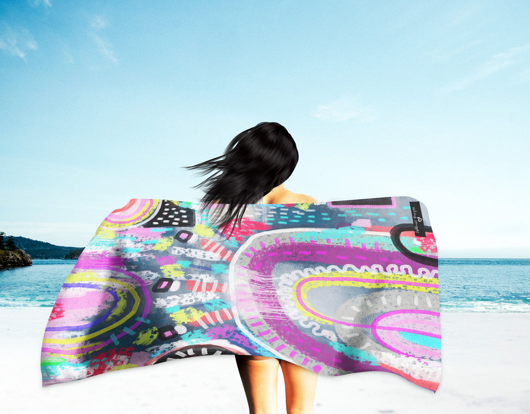 Inkheart Suede Beach Towel