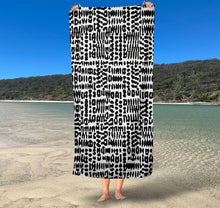 Load image into Gallery viewer, (Available March 2021) Kombi Stripe  Inkheart sand free Suede Beach Towel