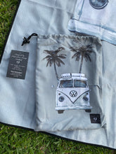 Load image into Gallery viewer, Grey Kombi- Inkheart recycled plastic bottle, waffled, sand free , compact beach towel