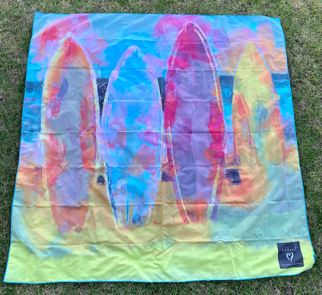 Surf boards Double sand free Suede Beach Towel 160x160cm