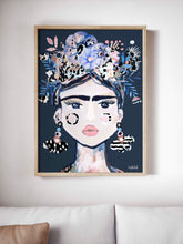 Load image into Gallery viewer, Lida Blue  Art  Print