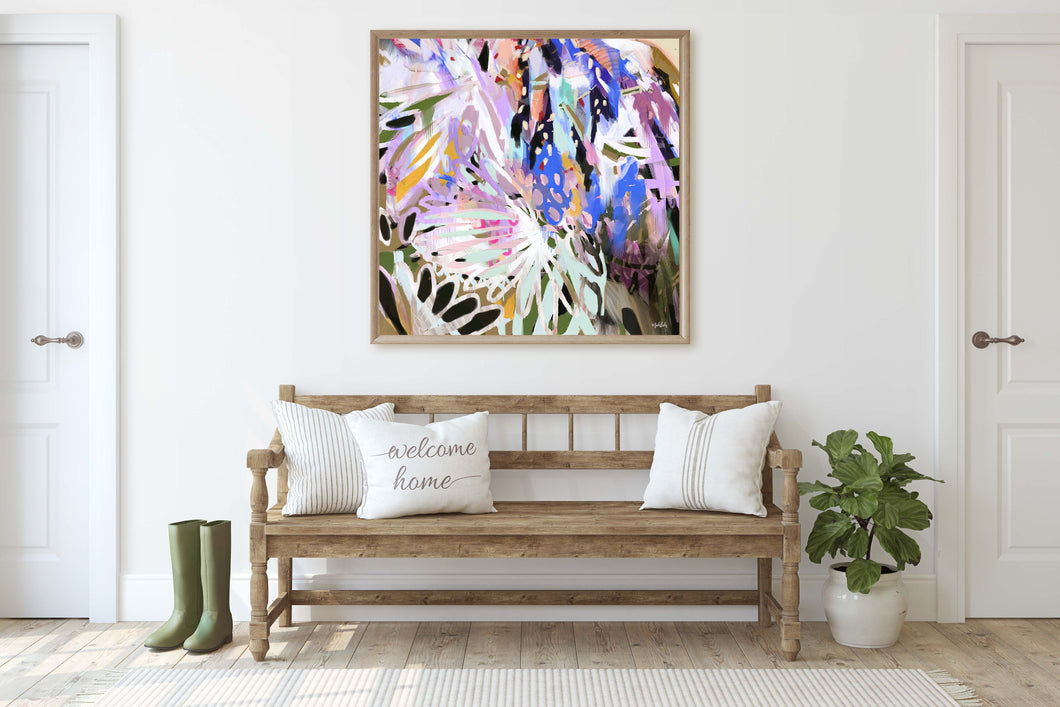Jabiru Abstract  Canvas Print