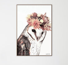 Load image into Gallery viewer, Flower Owl Print