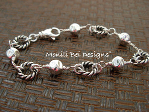 Ring and Ball Bracelet