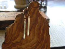Load image into Gallery viewer, 14kt Gold Filled Bar Earrings