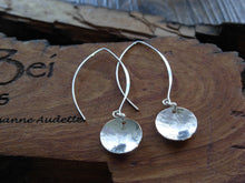 Load image into Gallery viewer, Sterling Silver Long Pool Disc Earrings