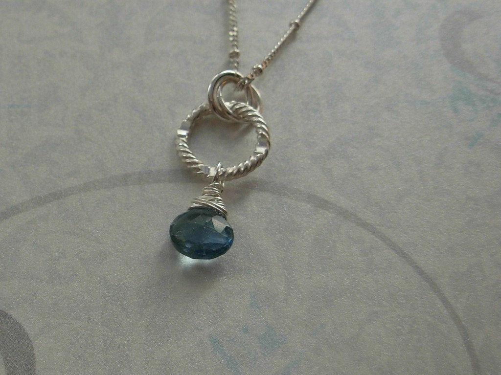 AAA Grade London Blue Topaz Necklace