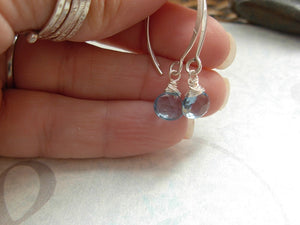 AAA Grade London Blue Topaz Earrings