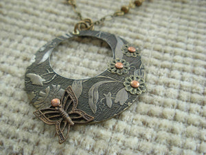Butterfly Love Riveted Necklace