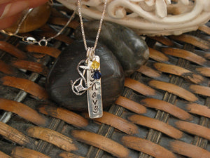 US Navy Sterling Silver Tab Necklace