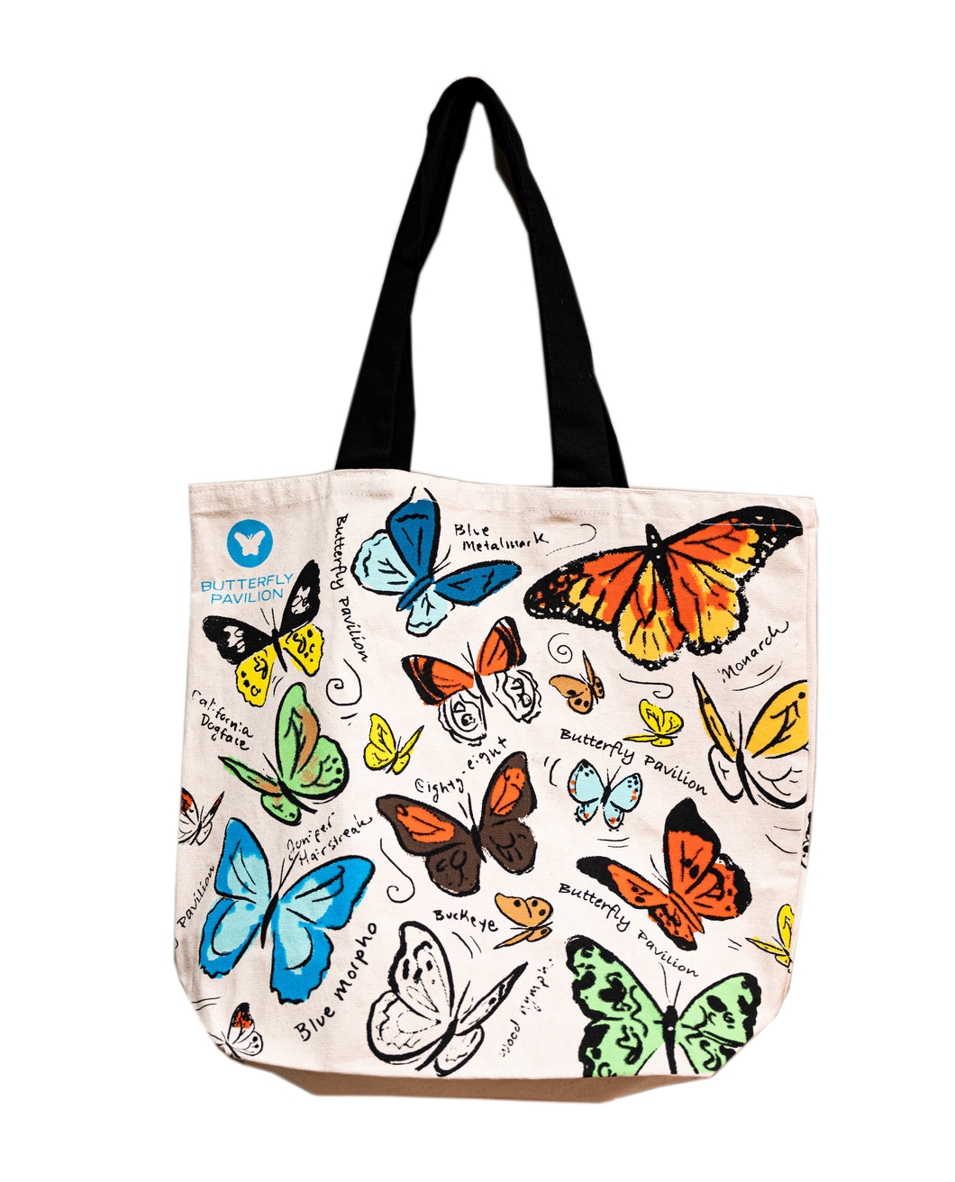 Butterfly Pavilion Canvas Shopping Tote