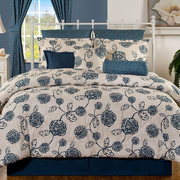 Bloom in Blueberry Dorm Bedding
