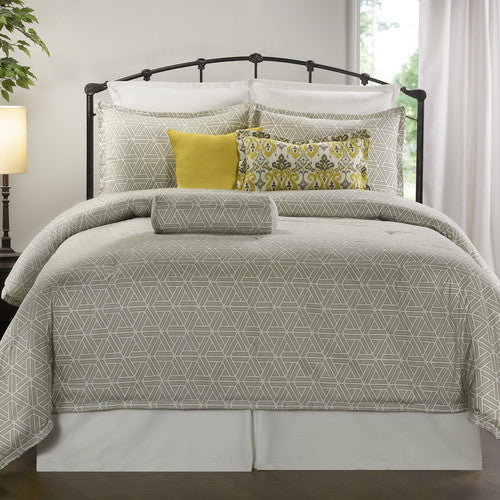 Gray Geometric Bedding Set