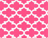 Hot Pink Quatrefoil Headboard by American Made Dorm