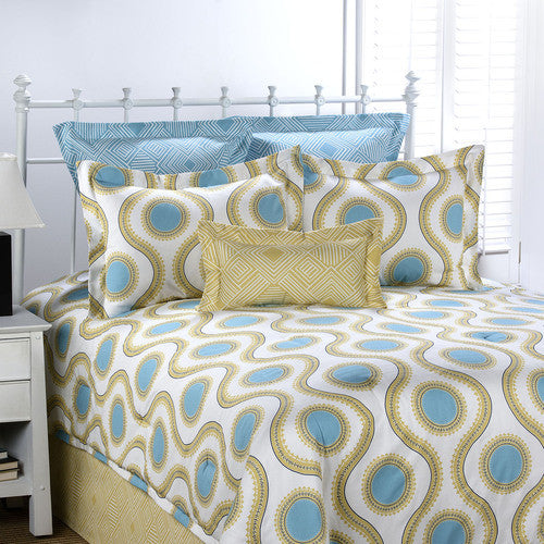 Susette Canal Blue Comforter Set