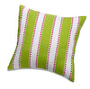 Cute Green Striped Accent Pillow with Pink Dots by American Made Dorm & Home