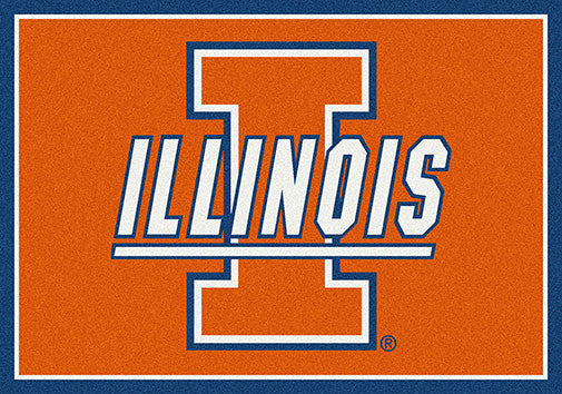 University of Illinois Spirit Rug