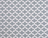 Cool Grey Quatrefoil Headboard by American Made Dorm