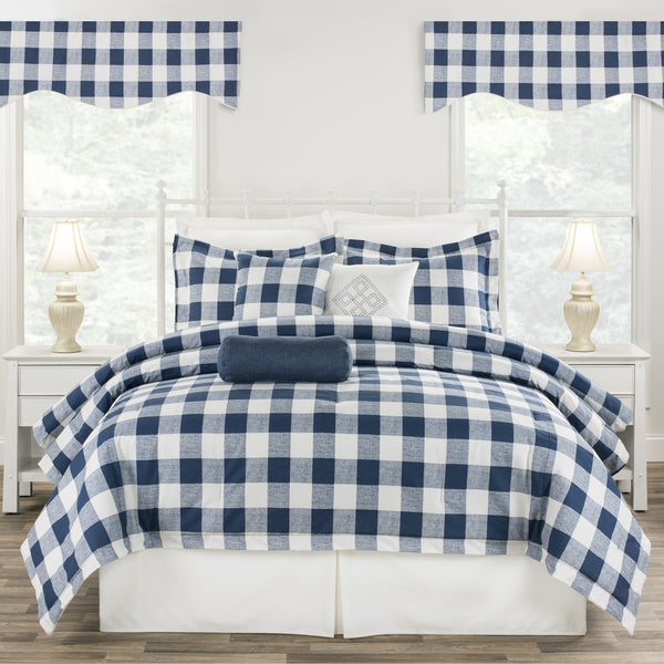 Cottage Classic Blue Dorm Bedding Set