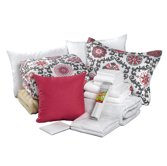 Rosa Flamingo Gray and PInk Dorm Bundle by American Made Dorm & Home