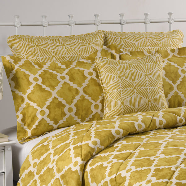 Golden Rod Madrid Dorm Bedding