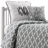 Gray Quatrefoil Bedding by American Made Dorm