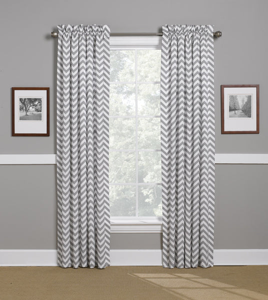 Gray Chevron Curtains by American Made Dorm & Home