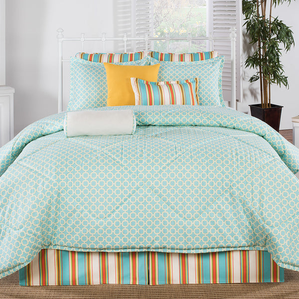 Grenada Coral And Aqua Comforter American Made Dorm Amp Home