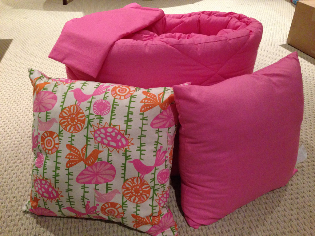 Solid Candy Pink Dorm Twin XL Comforter Set
