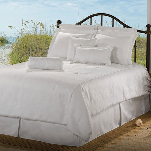 solid white bedding set